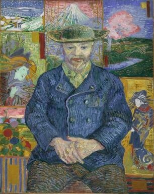 Le Père Tanguy by Vincent Van Gogh. (Oil on canvas. 1887. Musée Rodin.)