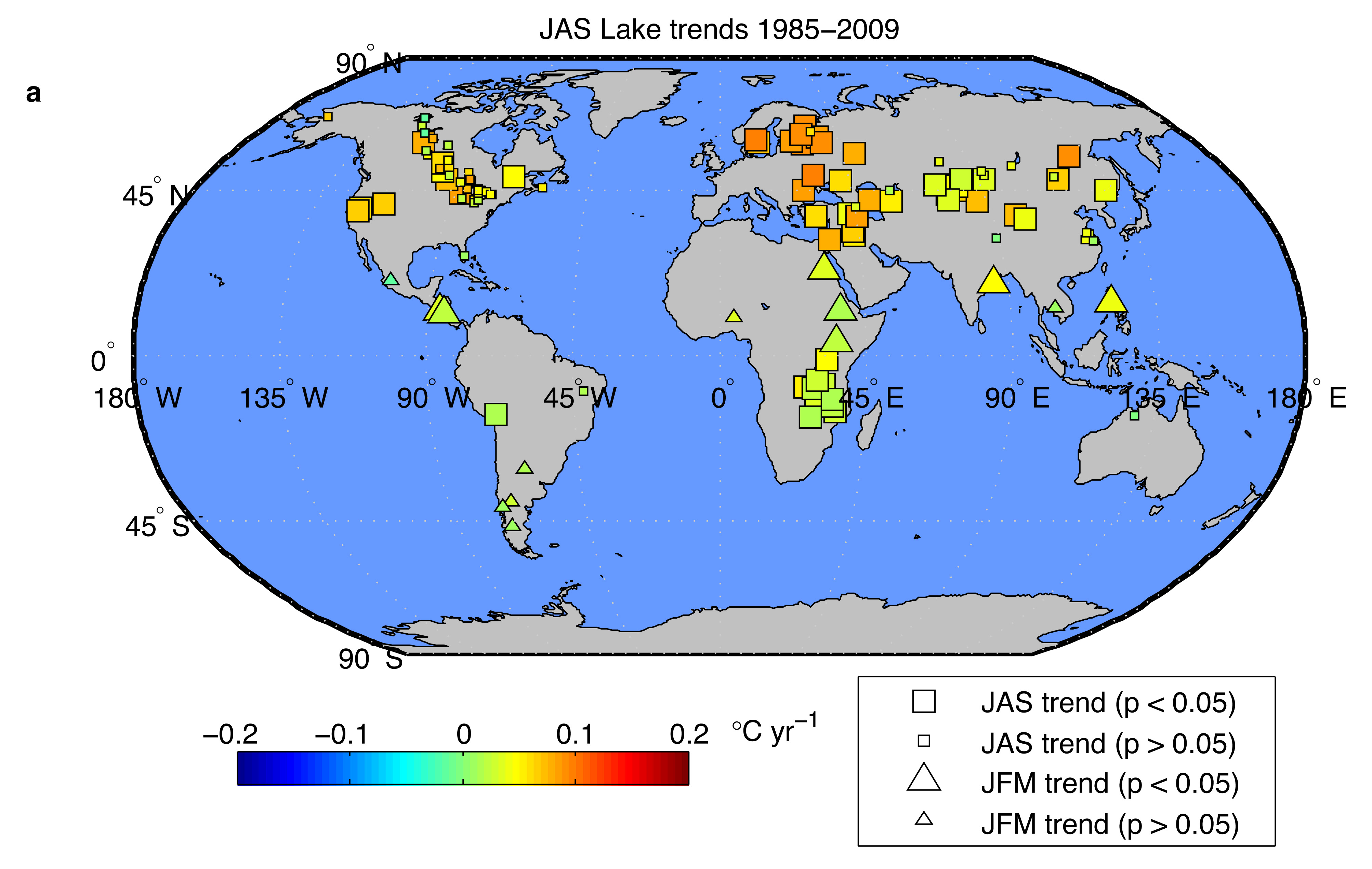 The warming of inland lakes Hidden Cause Visible Effects
