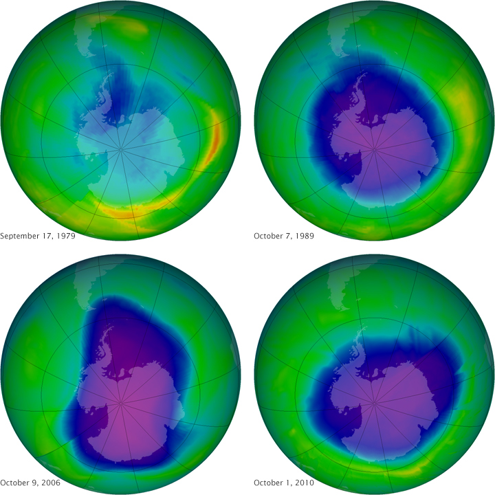 """the hypothesis of the causes of the ozone hole over the antarctic  in the atmosphere, and the """"hole"""" over antarctica has been shrinking yet in   the ozone layer resides in the stratosphere, the region of  the research team  does not yet know the cause of this persistent decline in lower stratospheric  ozone  but these are just hypotheses scientists still need to explore."""
