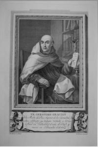 Fray Gerónimo Gracián by José López Enguidanos. (Intaglio print. 1791. Retratos de los españoles ilustres, Real Imprenta de Madrid.