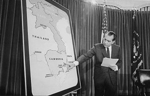 Nixon goes all in: On April 30, 1970, he makes the surprising announcement that American forces would provide support for the South Vietnamese kincursion into Cambodia.