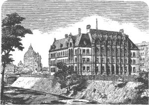 Weiner Akademisches Gymnasium from Moritz Bermann, Alt- und Neu-Wien. Geschichte der Kaiserstadt und ihrer Umgebungen (Vienna: U. Hartleben's Verlag: 1880). Click to enlarge.