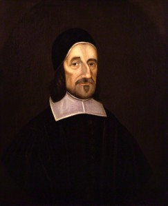 Richard Baxter, Puritan, chaplain in Parliament's Army, imprisoned non-conformist., and late in life a fighter against materialist Sadduces. He cited both Mathers' works on witches to show the certainty of the world of spirits (the titleof his 1691 book). Oil on canvas  (1670) after Robert White. By permission of the National Portrait Gallery, London. Click to enlarge.