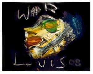 PTSD. Mixed media by Luis Gutierrez (2008).