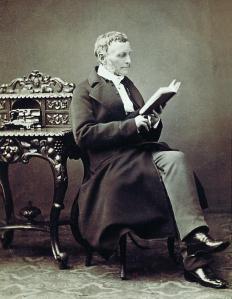 Photo of Paludan-Muller in 1864 (Det Kongelige Bibliotek.)
