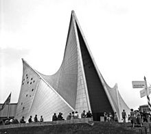 The Philips Pavilion at Expo 58. (Wikipedia.)