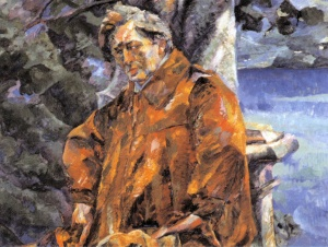 Portrait of Ferruccio Busoni, oil on canvas by Umberto Boccioni (1916) (Galleria Nazionale d'Arte Moderna di Roma, Italy). Click to enlarge.