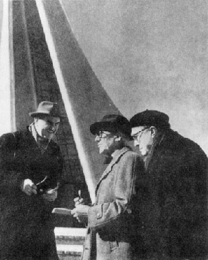 Varèse and Le Corbusier at the Philips Pavillion in 1958.