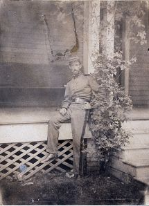 Sanford Robinson Gifford in the uniform of New York's Seventh Regiement in 1861. (Photographer unknown.)