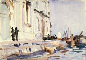 All'Ave Maria by John Singer Sargent. (Watercolor on paper. c1902-04. Brooklyn Museum.) One of many scenes from Venice painted from a gondola. (Click to enlarge.)
