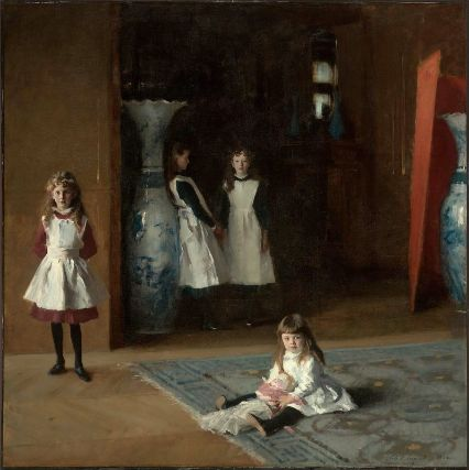 The Daughters of Edward Darley Boit by John Singer Sargent. (Oil on canvas. 1882. Museum of Fine Arts, Boston.) (Not in the Brooklyn exhibition.) Click to enlarge.