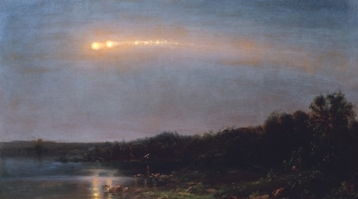Meteor by Frederick Edwin Church (Oil, 1860, Collection of Ms. Judith Filenbaum Hernstadt.)