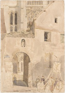 Facade of Chartres Cathedral by Roger Fry. (Watercolor on paper. 1906. Metropolitan Museum of Art.) Click to enlarge.