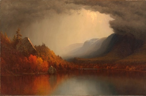 A Coming Storm by Sanford Robinson Gifford (1863; retouched in 1880; Philadelphia Museum of Art.)