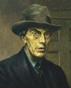 Roger Fry, self portrait. (Oil on canvas. 1928. Private collection.) Not in the Brooklyn exhibition. Click to enlarge.