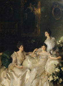 The Wyndham Sisters: Lady Elcho, Mrs. Adeane, and Mrs. Tennant by John Singer Sargent. (Oil on canvas. 1899. Metropolitan Museum of Art.) Not in the Brookly exhibition. (Click to enlarge.)