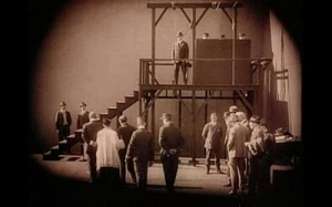 The gallows scene could have been composed by a German or Northern European director in the 1920s.