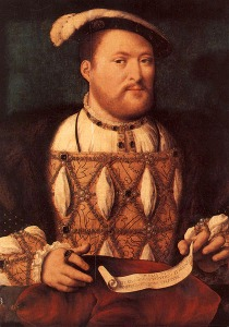 Henry VIII by Joos van Cleeve (?). (Oil on canvas. c1535. Royal Collection.)