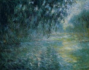 """Morning on the Seine in the Rain"" by Claude Monet. (Oil on canvas. 1897-98. National Museum of Western Art, Tokyo.)"
