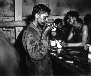Coffee for the Exhausted Conquerers of Engebi Island--the United States Maric Corps by Ray R. Platnick, USCGR (Gelatin silver print. 1944. Museum of Fine Art, Houston.)