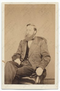 Albert Bierstadt photographed by Bierstadt Brothers, ca. 1875. (Carte de Visite. Smithsonian Museum of Art.)