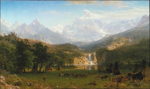 Rocky Mountains, Lander's Peak by Albert Bierstadt. (Oil on canvas. 1863. Metropolitan Museum of Art, New York.)
