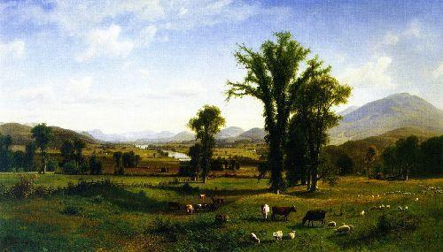 Mount Ascutney from Claremont, New Hampshire by Albert Biertstadt.* (Oil on canvas. 1862. Fruitlands Museum, Harvard, Massachusetts.)