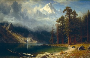 Mount Corcoran by Albert Bierstadt. (Oil on canvass. ca. 1876-77. Corcoran Museum of Art, Washington, D.C.