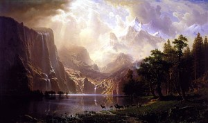 Among the Sierra Nevada, California by Albert Bierstadt (Oil on canvas. 1868. Smithsonian American Art Museum)