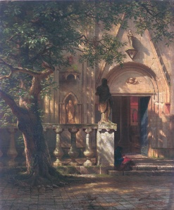 Sunlight and Shadow by Albert Bierstadt. (Oil on canvas. 1862. de Young Museum, San Fransisco, California.)