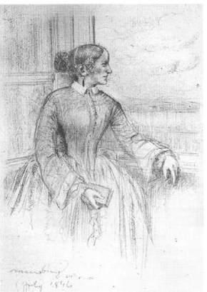 Annette von Droste-Hülshoff by Jenny von Laßberg. (Pencil on paper. 1846. Droste-Hulshoff House Museum (Park).)