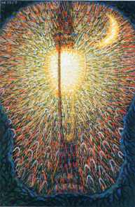 Street Light by Giacomo Balla (Oil on Canvas. ca. 1910 (dated 1909 by artist). Museum of Modern Art.)