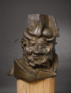 Antigraceful by Giacomo Boccioni (Bronze. 1913 (cast 1950-51). Metropolitan Museum of Art.) One of many representations of Boccioni's mother. Although he uses cubistic application of planes, Boccioni attempts to incorporate the Futurist theory on perception by having a building merge with the back of her head.