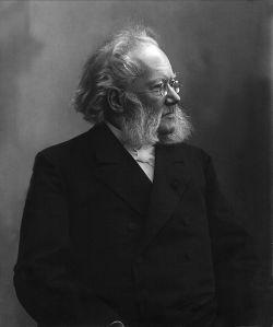 Henrik Ibsen. (Photograph by Gustav Borgen. 1898. Norsk Folkemuseum.)