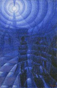 Solidity of Fog by Luigi Russolo. (Oil on canvas. 1912. Gianni Mattioli Collection on longterm loan to the Peggy Guggenheim Collection, Venice.)