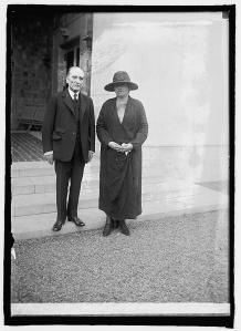 Mathieu and Miss Gabriela Mistral. (Print from Glass Negative in possession of Library of Congress, Washington, D.C. The description is from notes on the negative sleeve. The date of the photographs is noted as May 14, {19}24.)