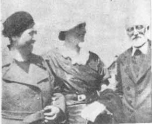 Mistral with Duhamel and Manuel Unamuno. (Date and photographer unknown.)
