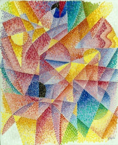 Spherical Expansion of Light (Centripetal and Centrifugal) by Gino Severini. (Oil on canvas. ca. 1914. Munson-Williams-Proctor Arts Institute, Utica, New York.)