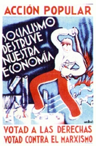 Acción Popular election poster 1933.