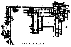 14. *Diagram of the Northwest Palace at Nimrud after Mallowan. From Moortgat (1969), p. 127.