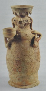 Ritual Offering Figure from En Hazeva. (Ceramic. late 7th-early 6th century B.C.E. Israel Museum, Jerusalem.)