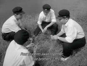 Four students await together a fraternal and legendary death.