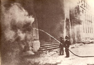 One of the churches set ablaze on May 11, 1931 in response to the Church's support of the departed King and in defense of its political privileges.