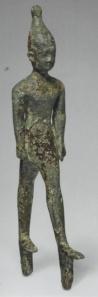 Male figure from Islote de Sancti Petri. (Bronze. ca. 710-640 B.C.E. Museo de Cádiz.)
