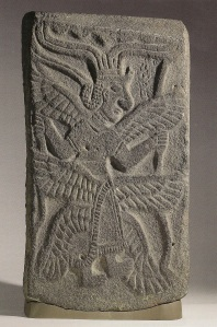 Relief of six-winged goddess from Tell Halaf (ancient Guzana in modern northast Syria). (Basalt orthostat. 10th-9th Cntury B.C.E. Walters Art Musuem, Baltimore, Maryland.)