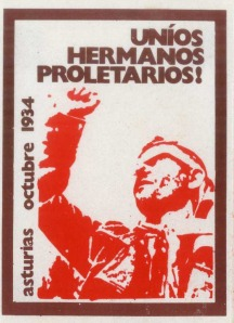 Poster appealing for proletariat solidarity with the uprising in Asturias.