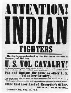 Recruiting poster for Chivington's 100-day men.