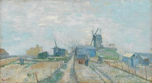 5. Montmartre: Windmills and Alotments. 1887. Oil on canvas. Van Gogh Museum, Amsterdam.