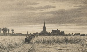 Going to Church for the Last Time (The Funeral in the Cornfield) by Jacob Jan van der Maaten. 1862. Lithograph. Van Gogh Museum, Amsterdam.