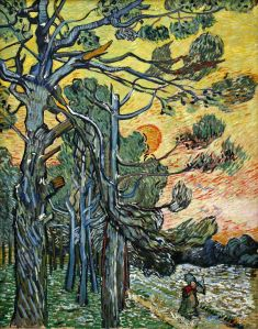 11. Pine Trees at Sunset. 1889. Oil on canvas. Kröller-Müller Museum, Otterlo, Netherlands.